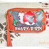 กระเป๋าซิป 3 ซิป เกมส์ angry bird นกโกรธ สีส้ม