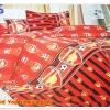 ชุดผ้าปูที่นอน ลายทีมฟุตบอล Arsenal สีแดง ลายดำ 3.5 ฟุต 3 ชิ้น