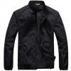 เสื้อ แจ็คเก็ต ผู้ชายแขนยาว เสื้อกันลม กันหนาว กันน้ำ ผ้า Nylon ใส่สบาย อุ่น เสื้อขี่มอเตอร์ไซค์ มีกระเป๋า 2 ข้าง สีดำ 217460