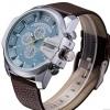 นาฬิกาข้อมือ ผู้ชาย สายหนังแท้ แนว Sport แบบเท่ ใส่ได้ตลอดเวลา สายสีน้ำตาล หน้าปัดเขียวอมฟ้า สีหายาก ของขวัญให้แฟน สุดเท่ 718005_1