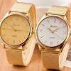 นาฬิกาข้อมือ ผู้หญิง ใส่ทำงาน นาฬิกาข้อมือ สาย Stainless สีทอง หน้าปัด เงิน และ ทอง นาฬิกาข้อมือ แบบเรียบหรู ดูดี มีสไตล์ 785611