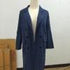 สีกรมท่า เสื้อคลุมสไตล์เกาหลี ทรงยาว ผ้าเนื้อด้าน ไม่หนา ใส่คลุมกำลังดี เท่ๆ พร้อมส่งเลยจ้า