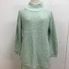 สีเขียวอ่อน: เสื้อไหมพรมตัวโคล่ง Sweater ทรงยาว เกาหลีฝุดๆ ยืดได้เยอะ พร้อมส่ง