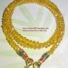 (ขายแล้วค่ะ) M016 สร้อยคอ คริสตัลโมดาร์ (สีเหลืองทอง)