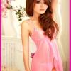 ชุดนอนสีชมพูเซ็กซี่หวานนิดๆ+จีสตริงเข้าชุด