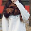 ผ้าพันคอไหมพรม เกาหลี สีน้ำตาล มิกกับชุดไหนก็สวย ใส่ได้ทั้งผู้ชายและผู้หญิง พร้อมส่ง