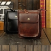 กระเป๋าสะพายข้างผู้ชาย กระเป๋าคาดเอว ขนาดเล็ก มีหูร้อย เข็มขัด หนังวัว Crazy Horse สีดำ สีน้ำตาต กระเป๋าสะพาย สามารถถอดสายได้ 873335