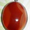 (ขายแล้วค่ะ) G04 จี้หินคาร์เนเลี่ยน น้ำตาลแดง เม็ดใหญ่