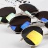 แว่นตากันแดดเคลือบปรอท สีเงิน ทอง และ สีฟ้า แว่นตาตี๋ใหญ่ ผู้หญิง ผู้ชาย ใส่ได้ no 200338