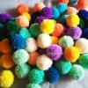 ปอมปอมไหมพรมคละสี 100 ลูก ขนาด 2 นิ้ว pompoms crochet