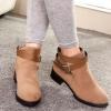 รองเท้าหุ้มส้น ผู้หญิง หน้าปิด มีส้นเล็กน้อย ดีไซน์ ตกแต่ง เข็มขัดที่ข้อเท้า ด้านหน้าเรียบหรู คลาสสิค บูท นิดๆ รองเท้าผู้หญิง เท่ ๆ สีแอปริคอต 502089_2