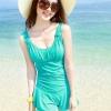 ชุดว่ายน้ำ วันพีช แบบกระโปรง ปกปิดต้นขา สวมใส่สบาย อย่างมั่นใจ สีเขียว no 888787_2