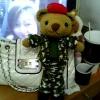 หมีทหาร ถักตุ๊กตาไหมพรม