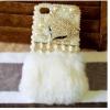 เคส Samsung galaxy note 3 n9000 n9009 n9005 เคส ขนสัตว์ ขนเฟอร์ ขนกระต่ายแท้ สีขาว แต่งมุก และ คริสตัล Fox 14573_8