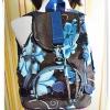 กระเป๋าสะพายหลัง Kipling สีน้ำตาลดอกไม้ฟ้า KP306
