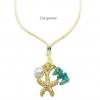 สร้อยคอปะการัง single starfish natural stone สี turquoise