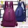 กระเป๋าสะพายหลัง กระเป๋าเป้ ผ้าไนลอน ขนาดกะทัดรัด ใส่ร่มได้ กระเป๋าเป้ วัยรุ่น สีสันสดใส 744944
