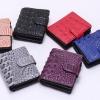 กระเป๋าสตางค์ผู้หญิง ใบสั้น กระเป๋าสตางค์ แบบผู้ใหญ่ ใบสั้นหนังแท้ อัดลายหนังจรเข้ แบบหรู กระเป๋าสตางค์ แนวหรูหรา ไฮโซ 962524
