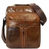 กระเป๋าสะพายข้าง ผู้ชาย หนังแท้ หนังวัว Oil wax สีน้ำตาลใบใหญ่ กระเป๋าหนังแท้ สำหรับผู้ชาย ใช้ใส่ของทำงาน ใส่ของเที่ยว ดูดี มีระดับ 481125