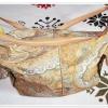 #Bag1101 กระเป๋าถือ ใส่ของสีเหลือง พลาสติกกันน้ำ พิมพ์ลาย