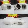 หัวชาร์จในรถ Power Adapter 2 in 1 เพิ่มช่อUSB 2ช่อง+ ช่องเสียบบุหรี่ ใช้กับมือถือทุกรุ่น+IPAD