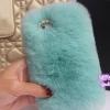 เคส Samsung galaxy note 3 n9000 เคสขนเฟอร์ ขนกระต่ายแท้ ขนนุ่มสุด ๆ สีฟ้าอมเขียว น้ำทะเล 10120_1