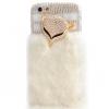 เคส iPhone 6 4.7 นิ้ว เคส Diy 3 มิติ ติดคริสตัล รูป หน้าสุนัขจิ้งจอก สีทอง แต่ง ขนเฟอร์ สีขาว ขนกระต่าย นุ่ม ๆ เคส ไฮโซ 454079_4