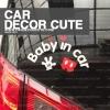 MICKEY MOUSE BABY IN CAR STICKER- สติกเกอร์ตกแต่งรถยนต์ Baby in car มิกกี้เม้าส์ เบบี้อินคาร์