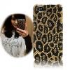 case iphone 5 สวยดุลายเสือแต่งด้วยคริสตัล กรอบไอโฟน 4s/4 รุ่น Golden Leopard