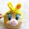 กระเป๋าใส่เหรียญเป็ดเหลืองถักโครเชต์ yellow duck amigurumi crochet bag