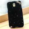 เคส Samsung galaxy note 3 n9000 n9009 n9005 เคสขนนุ่ม ติดคริสตัล วิ้ง ๆ และ โบว์ ที่ขอบ สีดำ no 74248_1