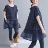 JY25914#เสื้อOversizeสไตล์เกาหลี เสื้อโอเวอร์ไซส์แต่งลายแนวๆ อก*100ซม.ขึ้นไปประมาณ40-42นิ้วขึ้น