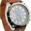 นาฬิกาข้อมือ ผู้หญิง ผู้ชาย ใส่ได้ นาฬิกา สายหนังแท้ สีน้ำตาล หน้าปัดหลายเหลี่ยม สแตนเลส สีดำ ดีไซน์ เข้ากับ สายหนัง วินเทจ สุด ๆ 306884_5