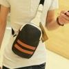 กระเป๋าคาดอก ผู้ชาย หนัง Pu กันน้ำ แฟชั่นนำเข้า สีสันสดใส สีดำ กระเป๋าสะพายหน้าหลัง ลดราคา no 508306