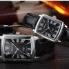 นาฬิกาข้อมือผู้หญิง สายหนัง หน้าปัดสี่เหลี่ยม สุดคลาสสิค นาฬิกาสายหนังสีดำ รุ่นคลาสสิค ยอดนิยม 806244
