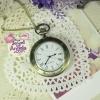 นาฬิกาพก,นาฬิกาสร้อยคอกรอบตัวเลขโรมันหลังเรียบ
