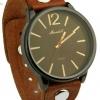 นาฬิกาข้อมือ ผู้หญิง ผู้ชาย ใส่ได้ นาฬิกาข้อมือ สไตล์วินเทจ สปอร์ต นิด ๆ สายหนังแท้ สีน้ำตาล หน้าปัด สีดำ กรอบดำ แบบเท่ เรียบหรู ของขวัญให้แฟน 306884_2