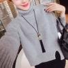 สีเทา : เสื้อไหมพรมกันหนาว คอเต่าพับได้ตามต้องการ ยืดได้เยอะ ทรงเก๋ๆ จะใส่เดี่ยวไหรือใส่โค้ทคลุมก็สวยจ้า