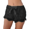 กางเกงขาสั้น กางเกงผู้หญิง ขาสั้น ผ้าลูกไม้ กางเกง สีดำ ใส่อยู่บ้าน ใส่เที่ยวทะเล ใส่เดินชายหาด ใส่ทับ ชุดว่ายน้ำ เก๋ ๆ ลุ๊ค คุณหนู ไฮโซ 63273_2
