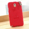 เคส Samsung galaxy note 3 n9000 n9009 n9005 เคสขนนุ่ม ติดคริสตัล วิ้ง ๆ และ โบว์ ที่ขอบ สีแดง no 74248_4