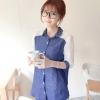 Best N Eve เสื้อ รุ่น Y-19B2 - Dark Blue Denim with White Sleeves