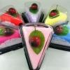 เครปเค้กผ้าขนหนู เซอร์ไพร์สวันพิเศษ (วันเกิด,วันวาเลนไทน์,วันแห่งความรัก) สีชมพู