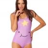 ชุดว่ายน้ำผู้หญิง ชุดว่ายน้ำเด็กผู้หญิง วันพีช ทรง วีคัท ลายการ์ตูน สีม่วง เพ้นท์ เป็นรูปยิ้ม แบบ หุบปาก แต่งดาวด้านบน น่ารักค่ะ 392360_5