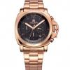 นาฬิกาข้อมือ ผู้ชาย สาย Stainless มีระบบ วันที่ สีทอง หรู Rose Gold หน้าปัดดำ นาฬิกาแฟชั่น ไฮเอนด์ ระบบ Quartz จากญี่ปุ่น ของขวัญสุดหรู 504854_1