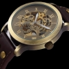นาฬิกาข้อมือ โชว์กลไก Mechanical watch สายหนังแท้ นาฬิกาแบบไม่ต้องใส่ถ่าน ดีไซน์ สไตล์วินเทจ ดูคลาสสิค สุด ๆ ของขวัญให้แฟน สุดหรู 348601