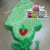 หมวกถัก สตอเบอรี่สีเขียว