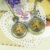 นาฬิกาพก,นาฬิกาสร้อยคอโบราณฝาหน้าสีชา