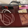 กระเป๋าจัดระเบียบของ กระเป๋าเครื่องสำอางค์ กระเป๋าใส่ของจุกจิก กระเป๋าแยกของ เหมาะสำหรับใช้เป็น กระเป๋าเดินทางขนาดเล็ก สีแดงเลือดหมู no 38452_2