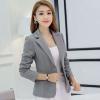 เสื้อสูทผู้หญิง แขนยาว สีเทา เรียบหรู ดูดี มีสไตล์ เสื้อสูท ใส่ทำงาน แบบสวย มีดีไซน์ เสื้อ Jacket เสื้อคลุม สำหรับสาวออฟฟิต 877711_2