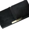 กระเป๋าสตางค์ใบยาว กระเป๋าสตางค์ผู้หญิง แต่งขนม้า แท้ สวยเก๋ ไม่ซ้ำใคร กระเป๋าสตางค์หรู ขนม้า สีดำ เงา หรูหรา 30945_1